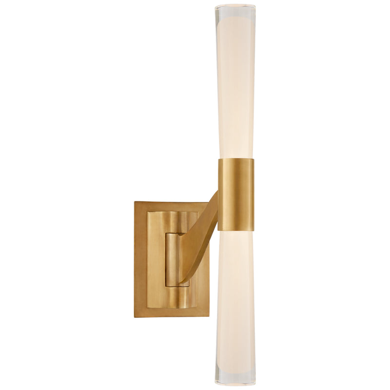 Visual Comfort ARN 2470HAB-CG AERIN Brenta Single Articulating Sconce in Hand-Rubbed Antique Brass