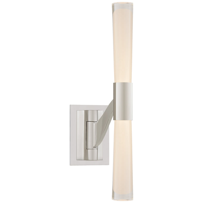 Visual Comfort ARN 2470PN-CG AERIN Brenta Single Articulating Sconce in Polished Nickel