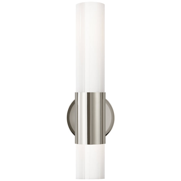 Visual Comfort ARN 2611PN-WG AERIN Penz Medium Cylindrical Sconce in Polished Nickel
