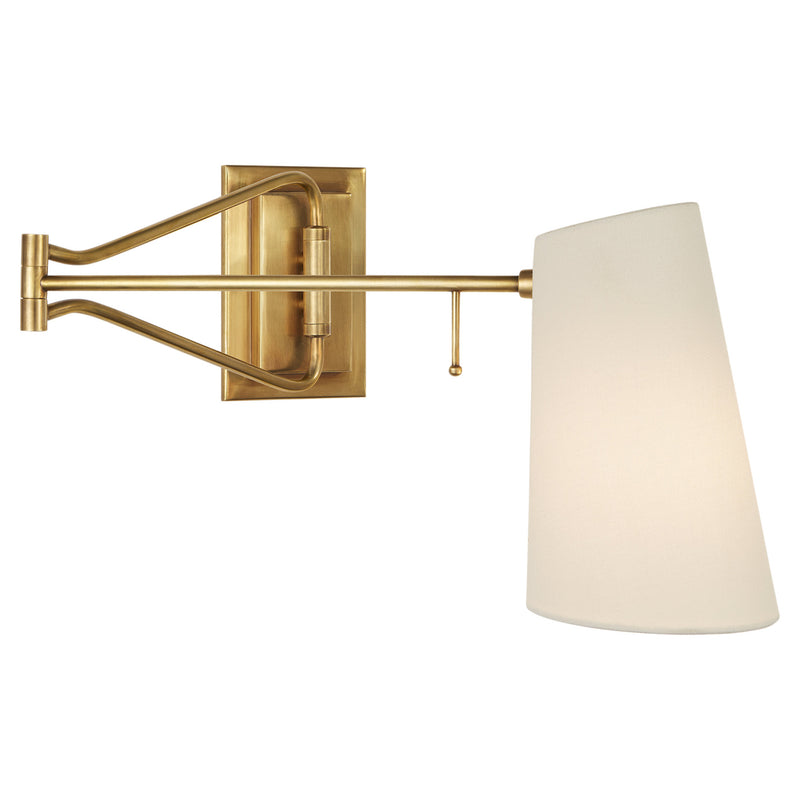 Visual Comfort ARN 2650HAB-L AERIN Keil Swing Arm Wall Light in Hand-Rubbed Antique Brass