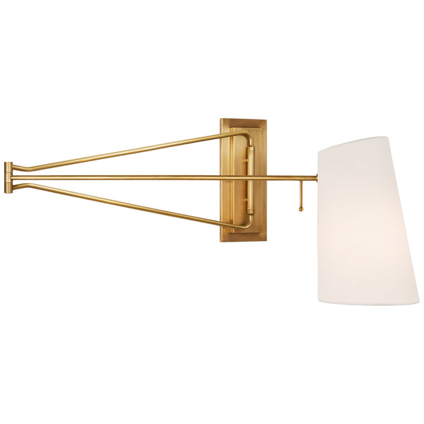 Visual Comfort ARN 2651HAB-L AERIN Keil Large Swing Arm Wall Light in Hand-Rubbed Antique Brass