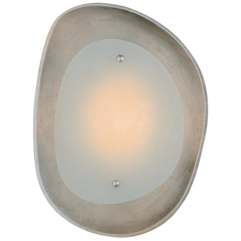 Visual Comfort ARN 2921BSL-ALB AERIN Samos Small Sculpted Sconce in Burnished Silver Leaf