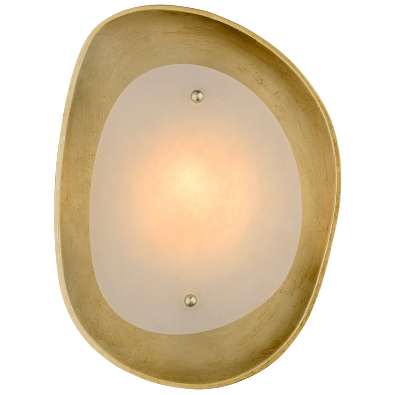 Visual Comfort ARN 2921G-ALB AERIN Samos Small Sculpted Sconce in Gild