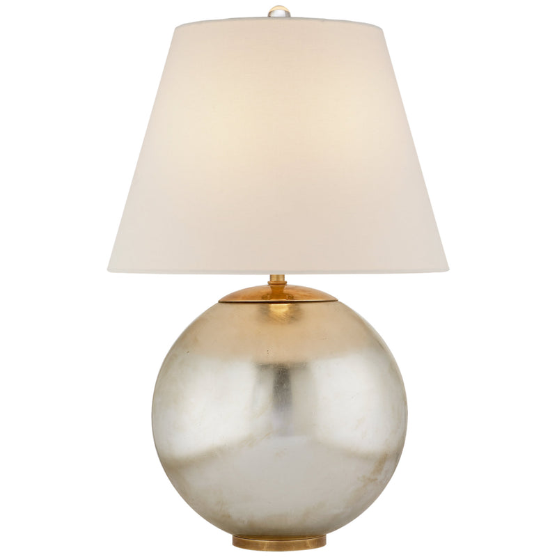 Visual Comfort ARN 3000BSL-L AERIN Morton Table Lamp in Burnished Silver Leaf