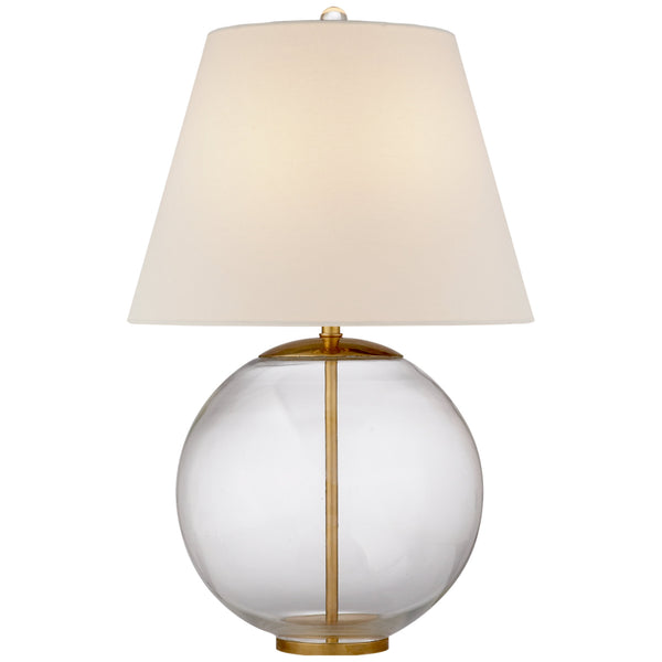 Visual Comfort ARN 3000CG-L AERIN Morton Table Lamp in Clear Glass
