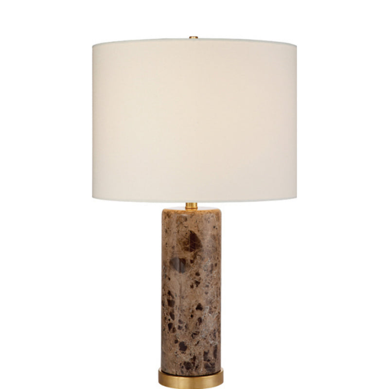 Visual Comfort ARN 3004BRM-L AERIN Cliff Table Lamp in Brown Marble