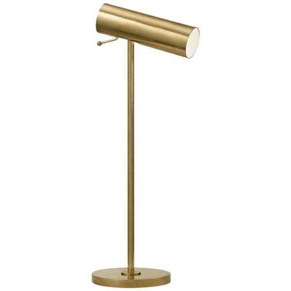 Visual Comfort ARN 3042HAB AERIN Lancelot Pivoting Desk Lamp in Hand-Rubbed Antique Brass