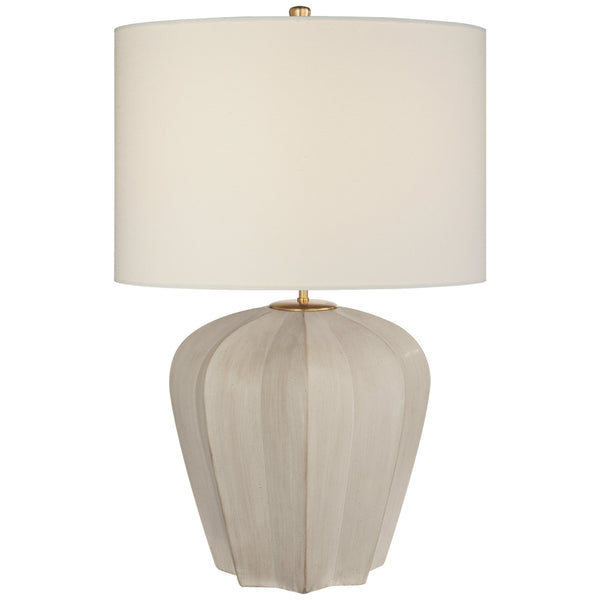 Visual Comfort ARN 3611STW-L AERIN Pierrepont Medium Table Lamp in Stone White