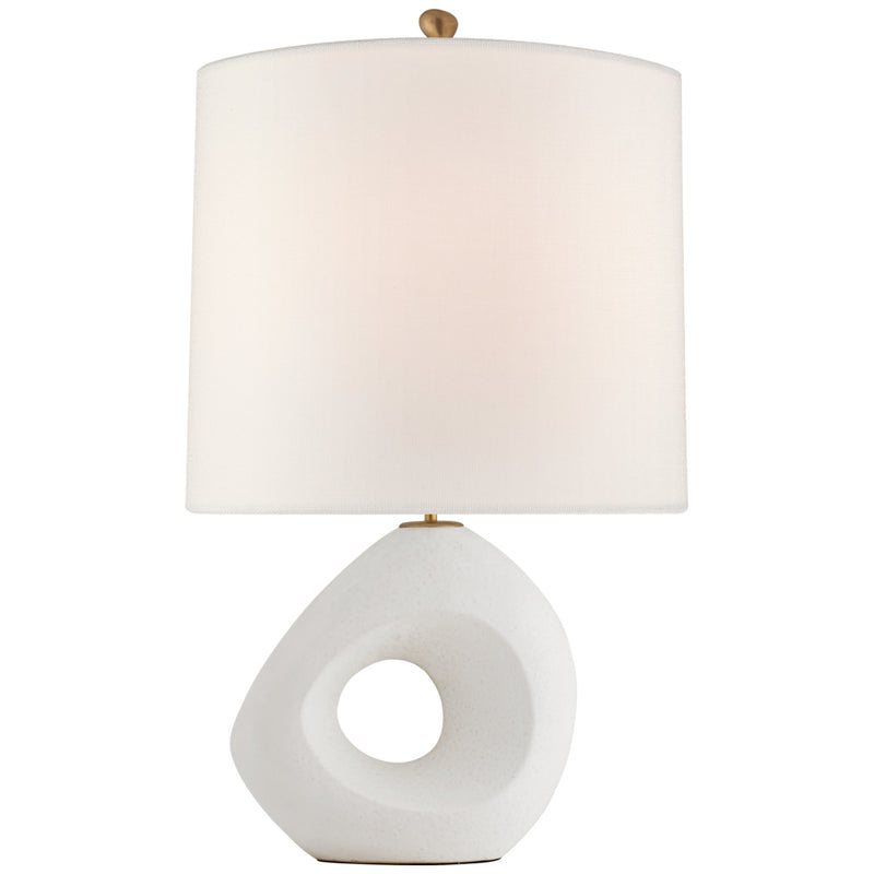 Visual Comfort ARN 3640MWT-L AERIN Paco Large Table Lamp in Marion White