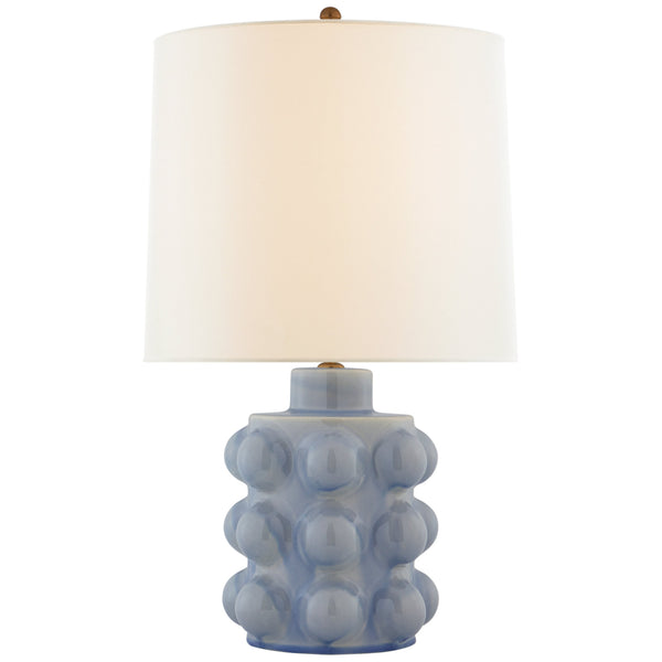 Visual Comfort ARN 3645PBC-L AERIN Vedra Medium Table Lamp in Polar Blue Crackle