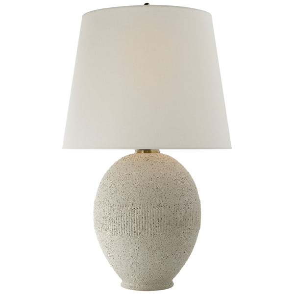 Visual Comfort ARN 3655VI-L AERIN Toulon Table Lamp in Volcanic Ivory