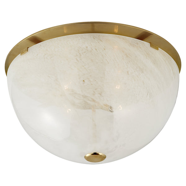Visual Comfort ARN 4010HAB-WG AERIN Serein Large Flush Mount in Hand-Rubbed Antique Brass