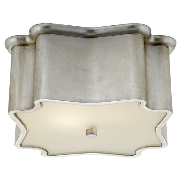 Visual Comfort ARN 4047BSL AERIN Bolsena Deco Flush Mount in Burnished Silver Leaf