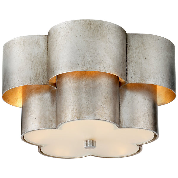 Visual Comfort ARN 4306BSL-FG AERIN Arabelle Flush Mount in Burnished Silver Leaf