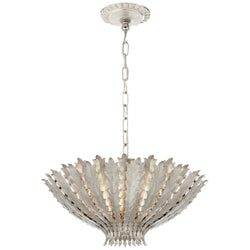 Visual Comfort ARN 5001BSL AERIN Hampton Medium Chandelier in Burnished Silver Leaf