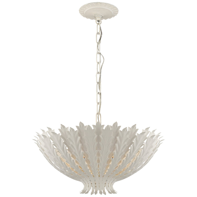 Visual Comfort ARN 5001PW AERIN Hampton Medium Chandelier in Plaster White