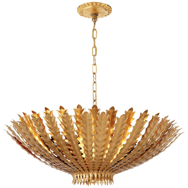 Visual Comfort ARN 5011G AERIN Hampton Large Chandelier in Gild