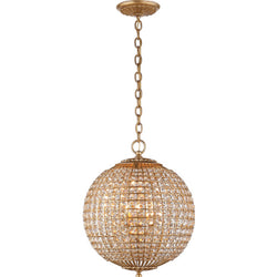 Visual Comfort ARN 5100G-CG AERIN Renwick Small Sphere Chandelier in Gild