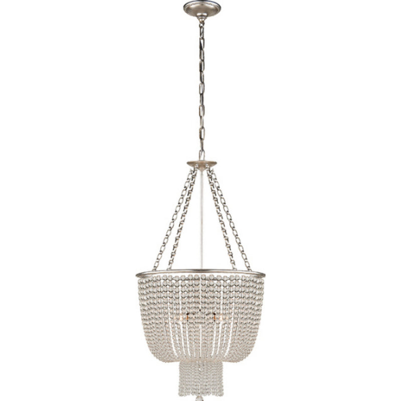 Visual Comfort ARN 5102BSL-CG AERIN Jacqueline Chandelier in Burnished Silver Leaf
