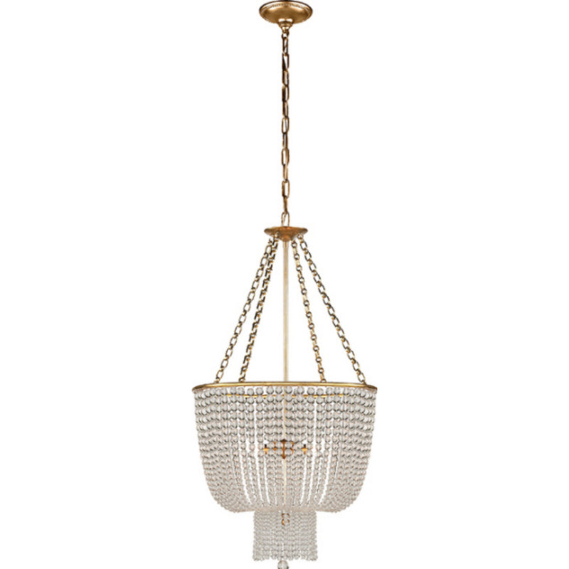 Visual Comfort ARN 5102HAB-CG AERIN Jacqueline Chandelier in Hand-Rubbed Antique Brass