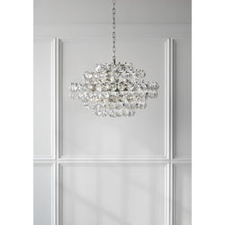Visual Comfort ARN 5105PN-CG AERIN Sanger Small Chandelier in Polished Nickel
