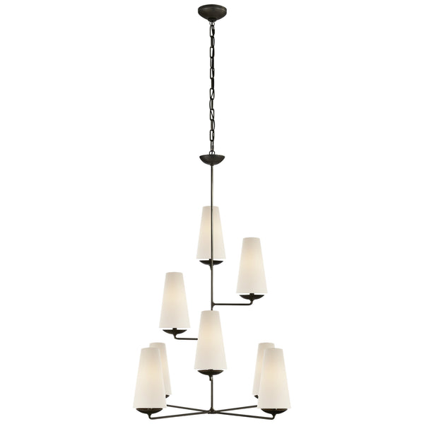 Visual Comfort ARN 5204AI-L AERIN Fontaine Vertical Chandelier in Aged Iron
