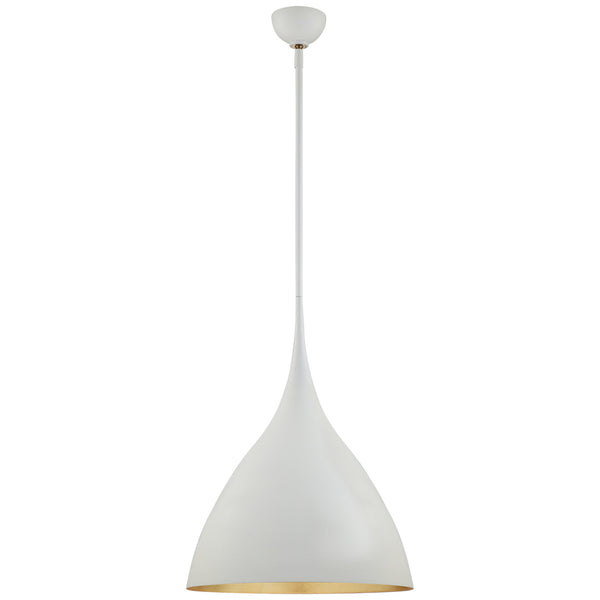 Visual Comfort ARN 5351PW AERIN Agnes Medium Pendant in Plaster White