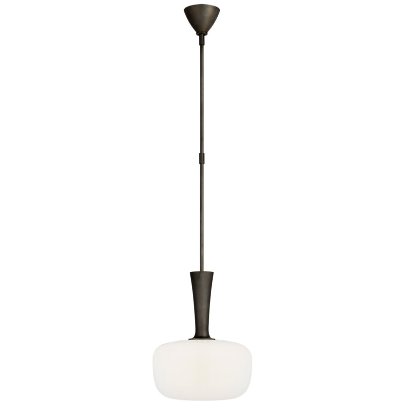 Visual Comfort ARN 5361BZ-WG AERIN Sesia Small Oval Pendant in Bronze