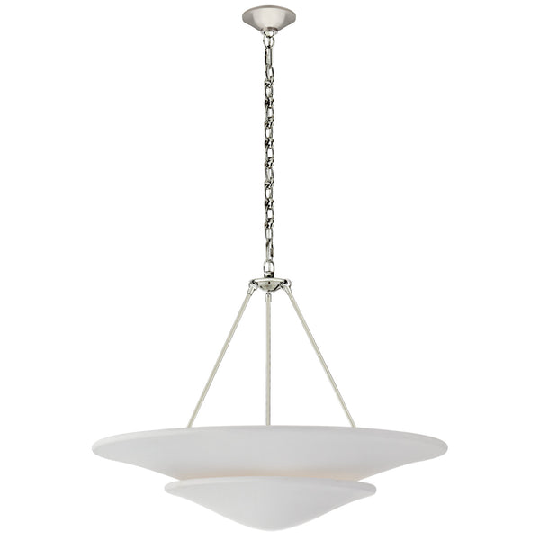 Visual Comfort ARN 5427PN-PW AERIN Mollino Large Tiered Chandelier in Polished Nickel