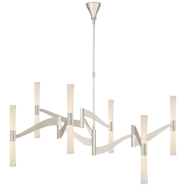 Visual Comfort ARN 5472PN-CG Aerin Modern Brenta Grande Chandelier in Polished Nickel with Clear Glass