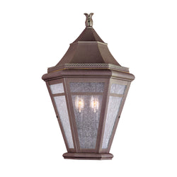 Troy Lighting B1279NR Morgan Hill 2lt Pocket Lantern Large in Solid Brass