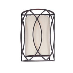 Troy Lighting B1289DB Sausalito 2lt Wall Sconce in Hand-Worked Iron
