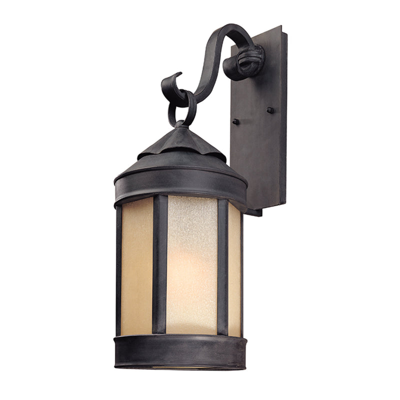 Troy Lighting B1463AI Andersons Forge 1lt Wall Lantern Large in Hand-Worked Iron