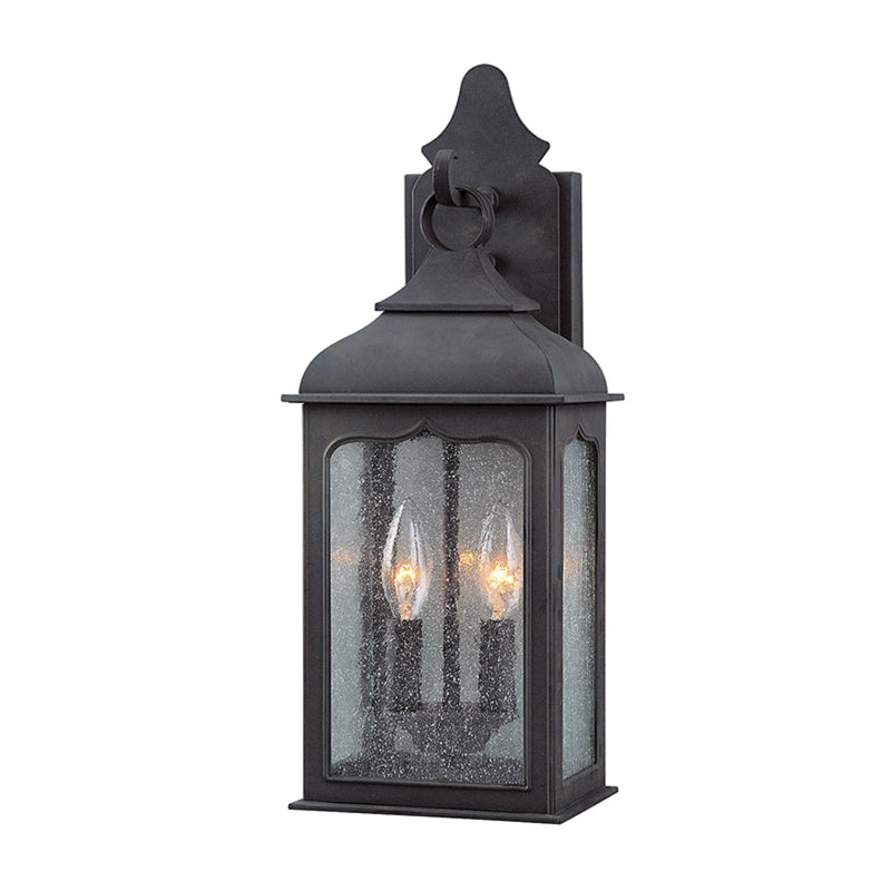 Troy Lighting B2011CI Henry Street 2lt Wall Lantern Small in Hand-Worked Iron
