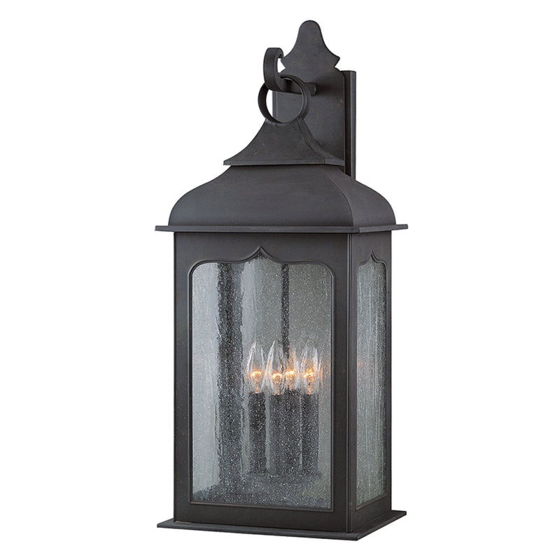 Troy Lighting B2013CI Henry Street 4lt Wall Lantern Large in Hand-Worked Iron