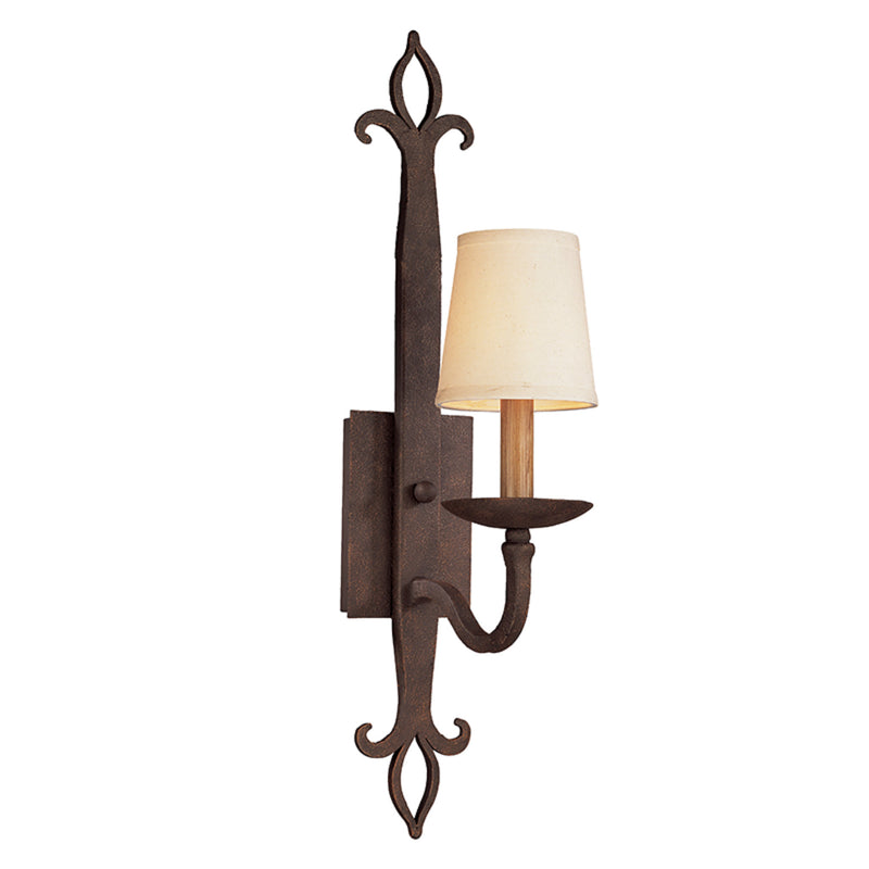 Troy Lighting B2711 Lyon 1lt Wall Sconce in Hand-Worked Iron