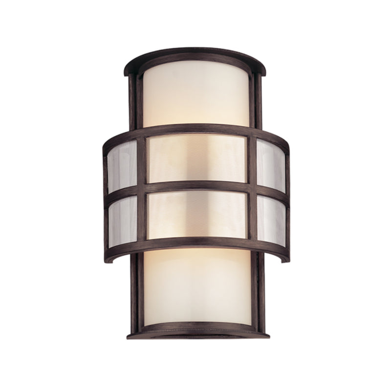 Troy Lighting B2732 Discus 2lt Wall Sconce Medium in Hand-Worked Iron