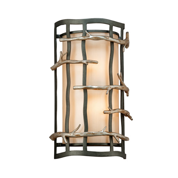Troy Lighting B2882 Adirondack 2lt Wall Sconce in Hand-Worked Iron