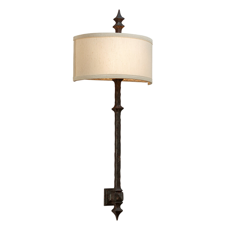 Troy Lighting B2912 Umbria 2lt Wall Sconce in Hand-Worked Iron