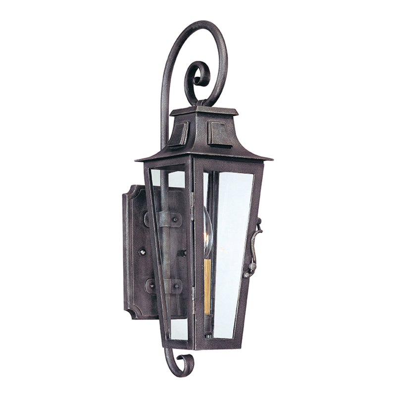Troy Lighting B2961 Parisian Square 1lt Wall Lantern Small in Hand-Forged Iron