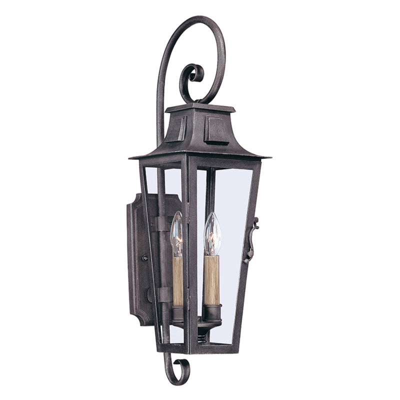Troy Lighting B2962 Parisian Square 2lt Wall Lantern Medium in Hand-Forged Iron