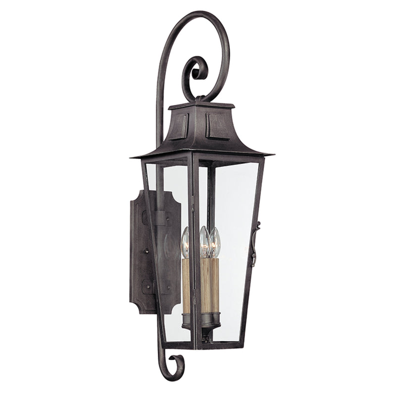 Troy Lighting B2963 Parisian Square 4lt Wall Lantern Large in Hand-Forged Iron
