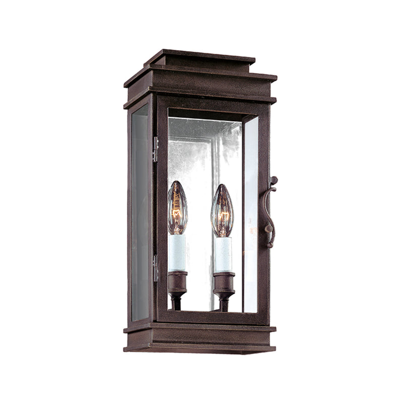 Troy Lighting B2971 Vintage 2lt Wall Lantern Small in Hand-Forged Iron