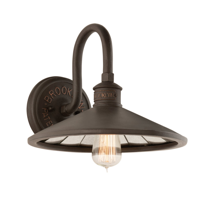 Troy Lighting B3142 Brooklyn 1lt Wall Sconce in Hand-Worked Iron