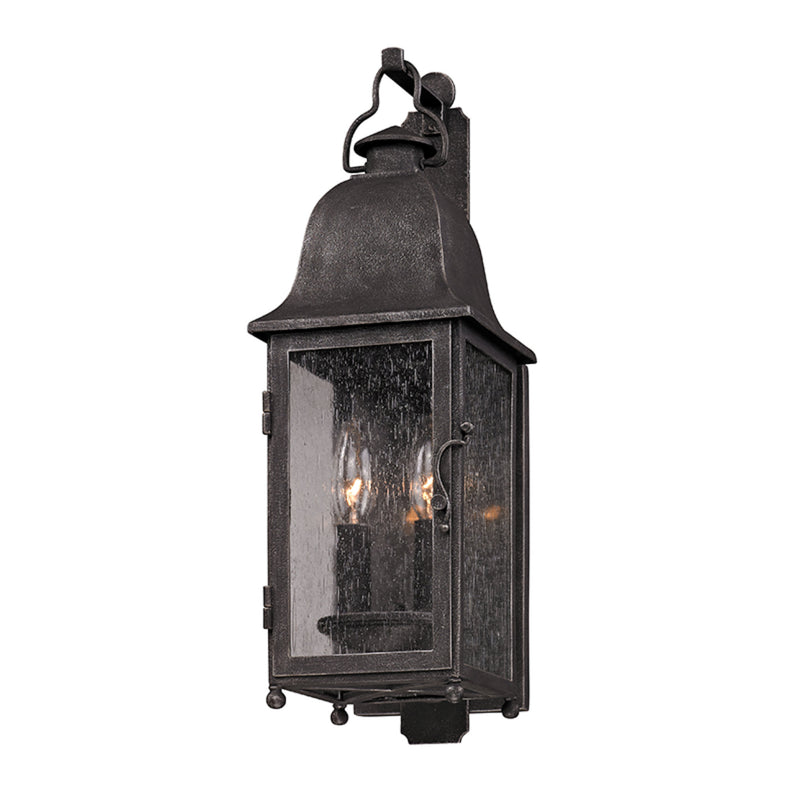 Troy Lighting B3211 Larchmont 2lt Wall Lantern Small in Hand-Worked Iron