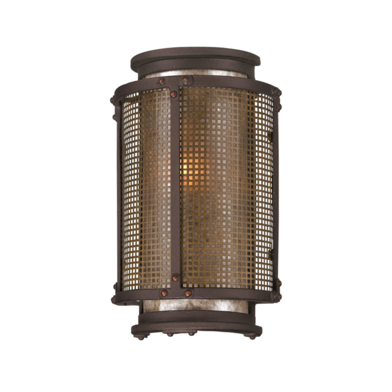 Troy Lighting B3271 Copper Mountain 1lt Wall Lantern Small in Hand-Worked Iron