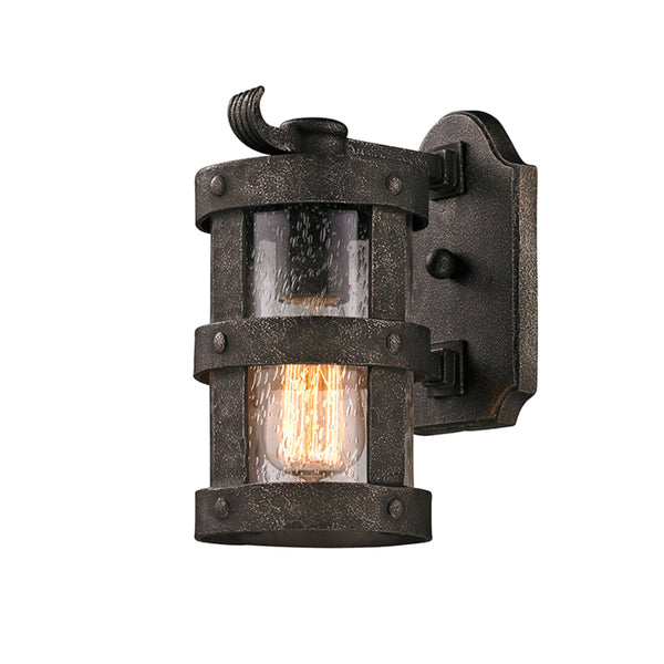 Troy Lighting B3311 Barbosa 1lt Wall Lantern Small in Hand-Worked Iron