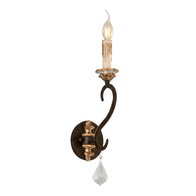 Troy Lighting B3511 Bordeaux 1lt Wall Sconce in Hand-Worked Iron