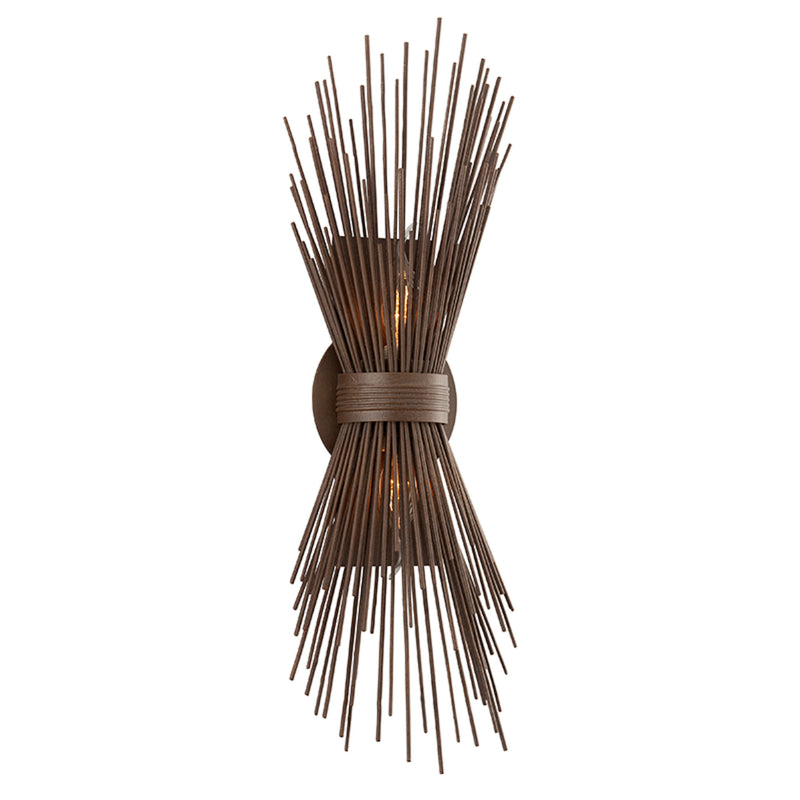 Troy Lighting B3661 Uni 2lt Wall Sconce in Hand-Worked Iron