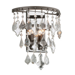 Troy Lighting B4312 Meritage 2lt Wall Sconce in Hand-Worked Iron